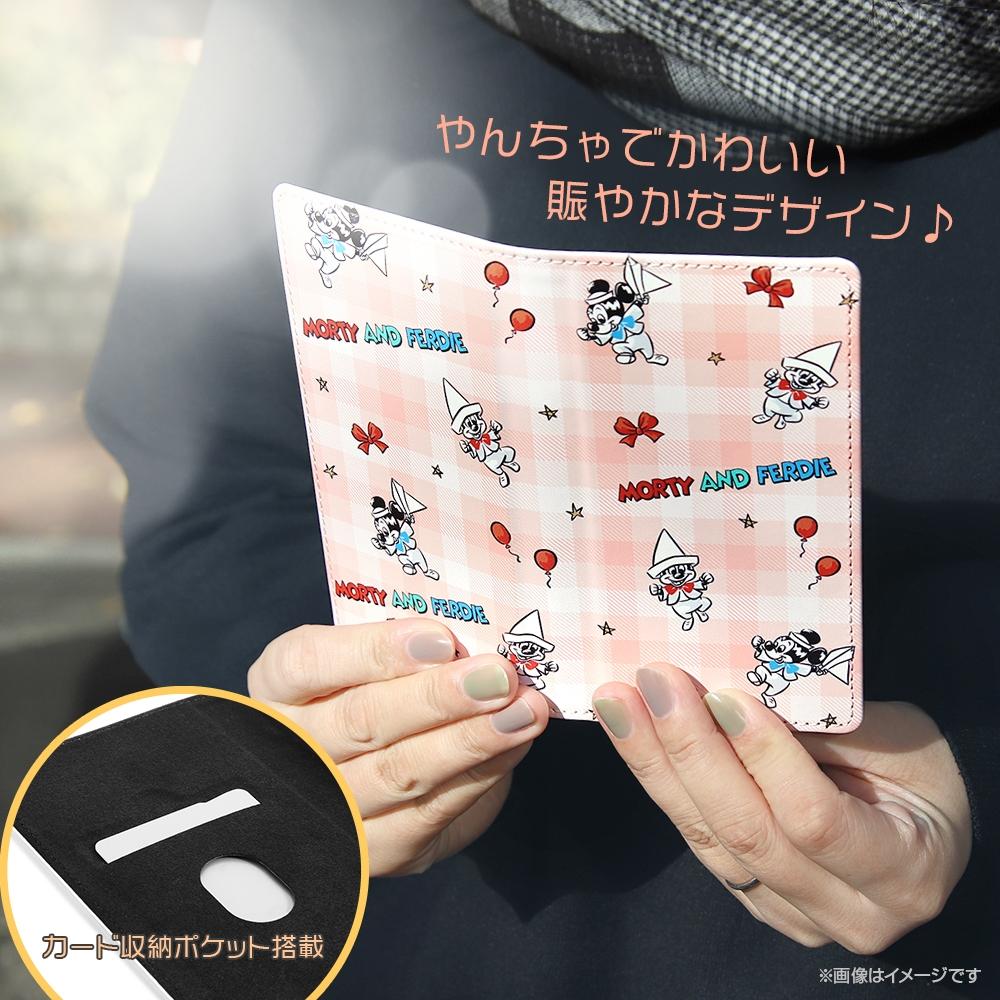 汎用『ディズニーキャラクター』/手帳型ケース FLEX M/『ミッキーマウスフレンズ/チェック』_02【受注生産】