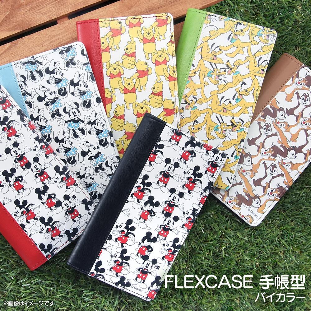 iPhone 12 / 12 Pro /『ディズニーキャラクター』/手帳型 FLEX CASE バイカラー01 M/『ディズニーキャラクター/総柄』_04【受注生産】