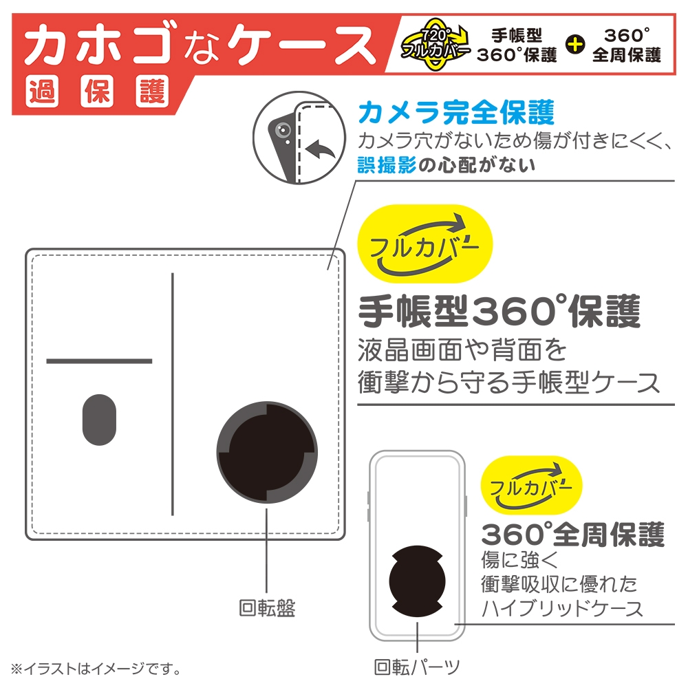 iPhone 12 / 12 Pro /『ディズニーキャラクター』/手帳型 FLEX CASE バイカラー01 M/『ディズニーキャラクター/総柄』_06【受注生産】