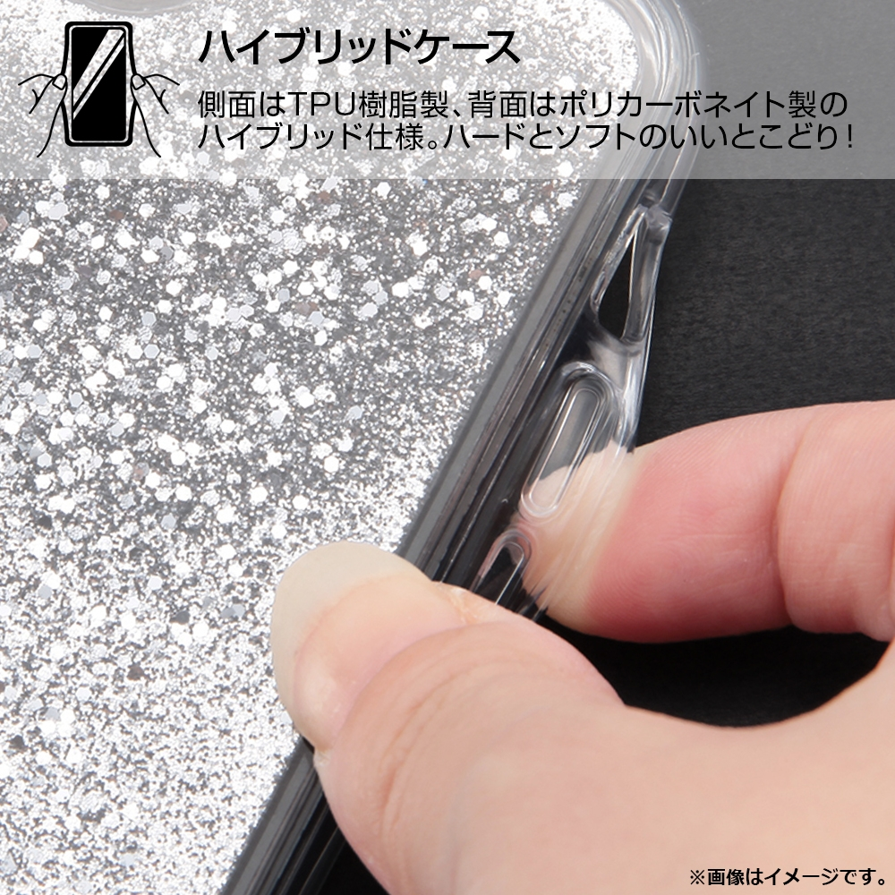 iPhone 12 mini /『ディズニーキャラクター』/ラメ グリッターケース/『ふしぎの国のアリス/Sit』_01【受注生産】
