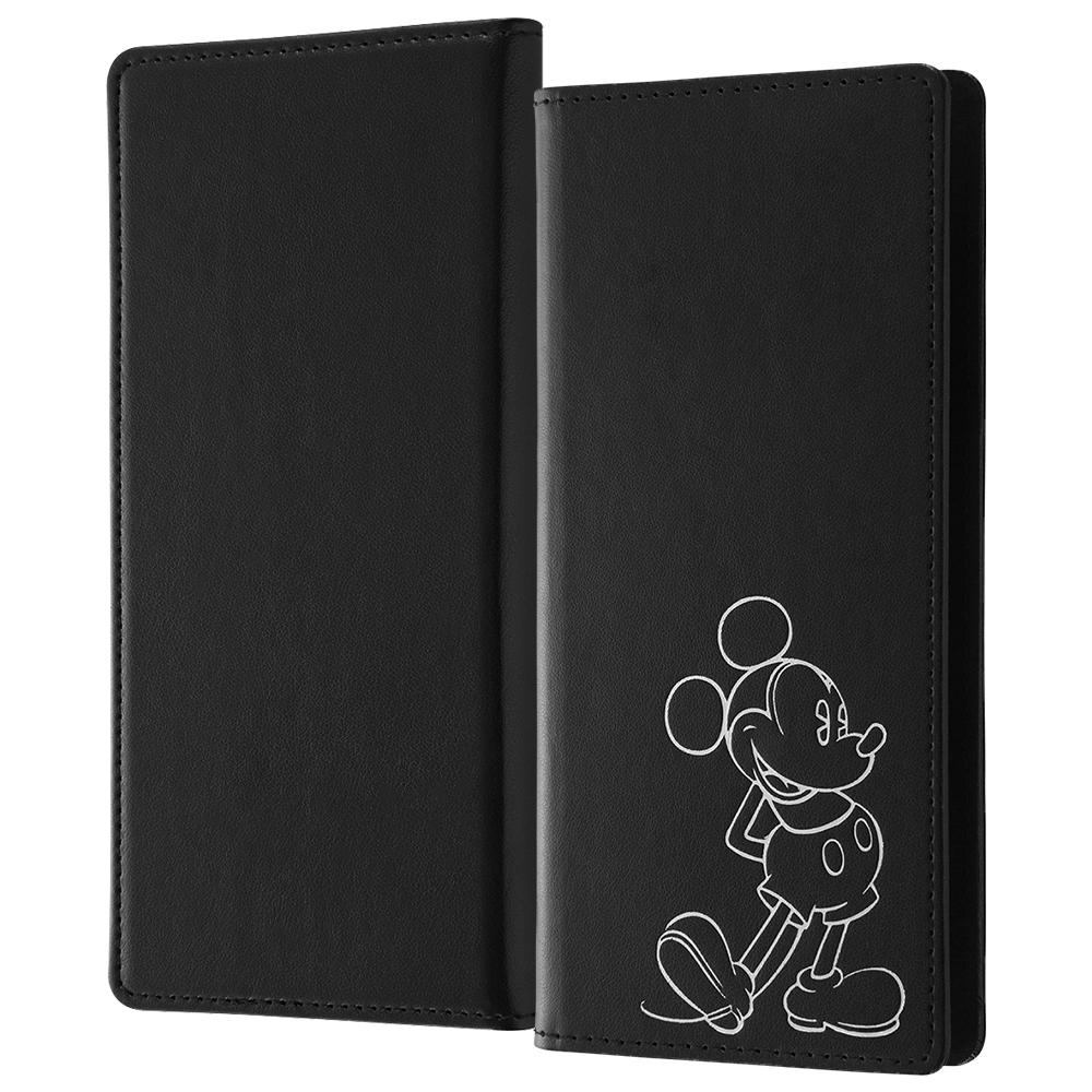 『ディズニーキャラクター』/汎用手帳型ケース FLEX ワイドディスプレイMサイズサイズ ホットスタンプ/『ミッキーマウス』