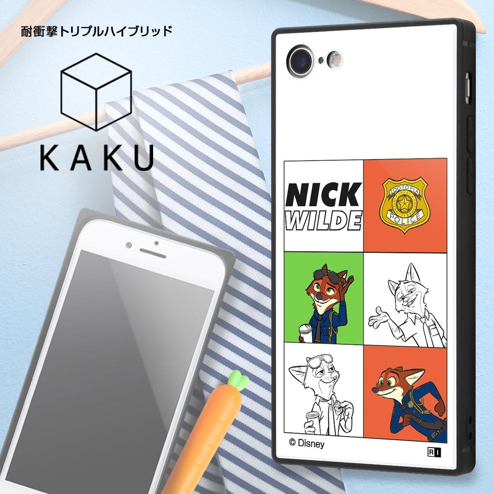 iPhone SE(第2世代) / 8 / 7 /『ディズニーキャラクター』/耐衝撃ケース KAKU トリプルハイブリッド/『ニック』_03【受注生産】
