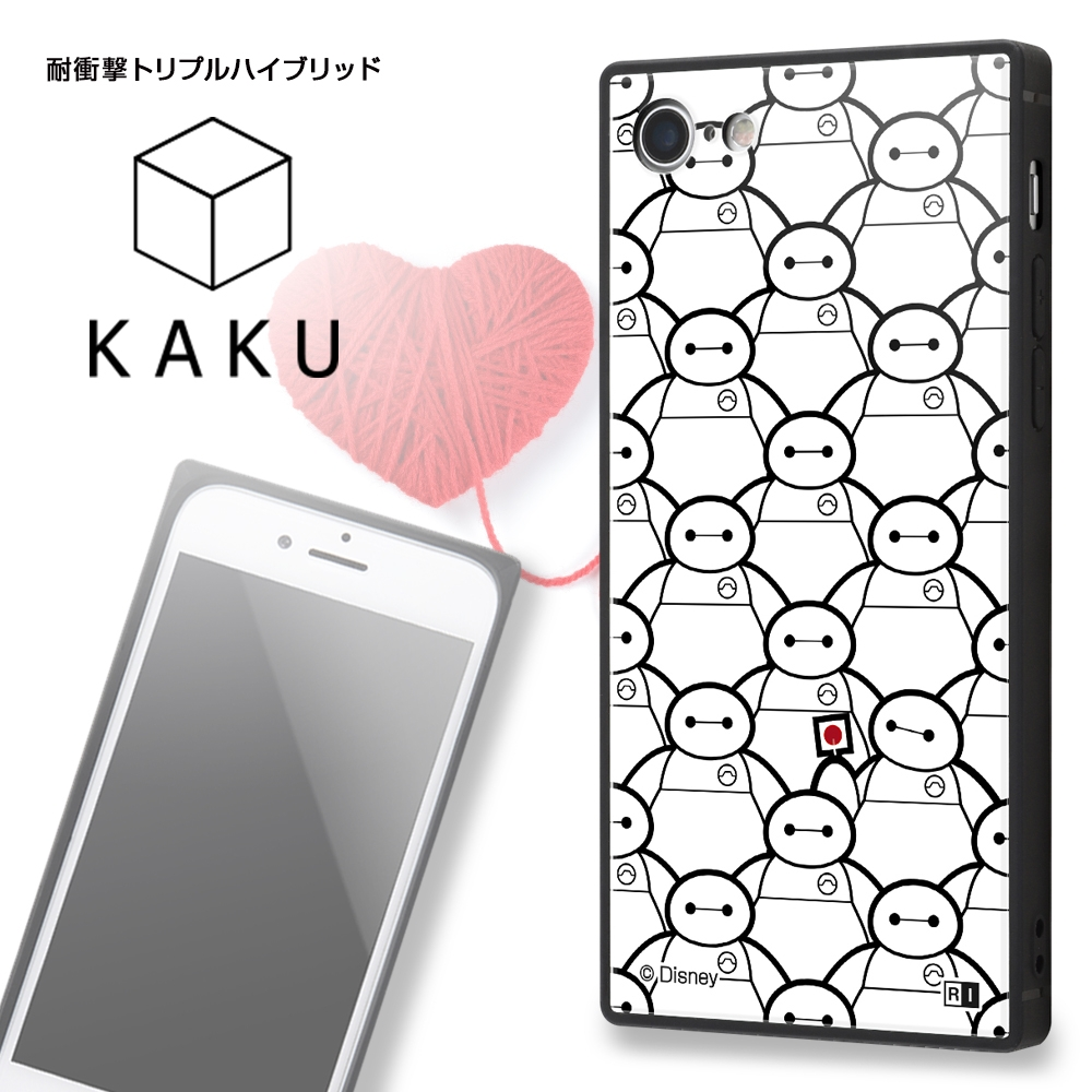 iPhone SE(第2世代) / 8 / 7 /『ディズニーキャラクター』/耐衝撃ケース KAKU トリプルハイブリッド/『ベイマックス』_02【受注生産】