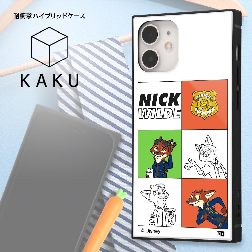 iPhone 12 mini /『ディズニーキャラクター』/耐衝撃ハイブリッドケース KAKU/『ニック/I AM』【受注生産】