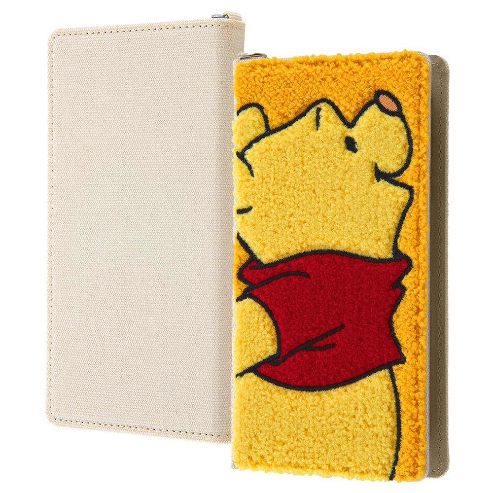 汎用 『ディズニーキャラクター』/手帳型ケース FLEX Lサイズ サガラ刺繍/『プー』