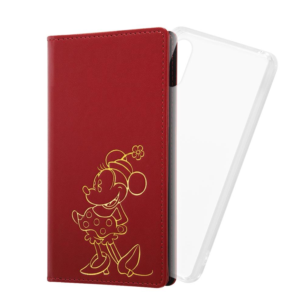Xperia Ace II 『ディズニーキャラクター』/手帳型 FLEX CASE ホットスタンプ/『ミニーマウス』