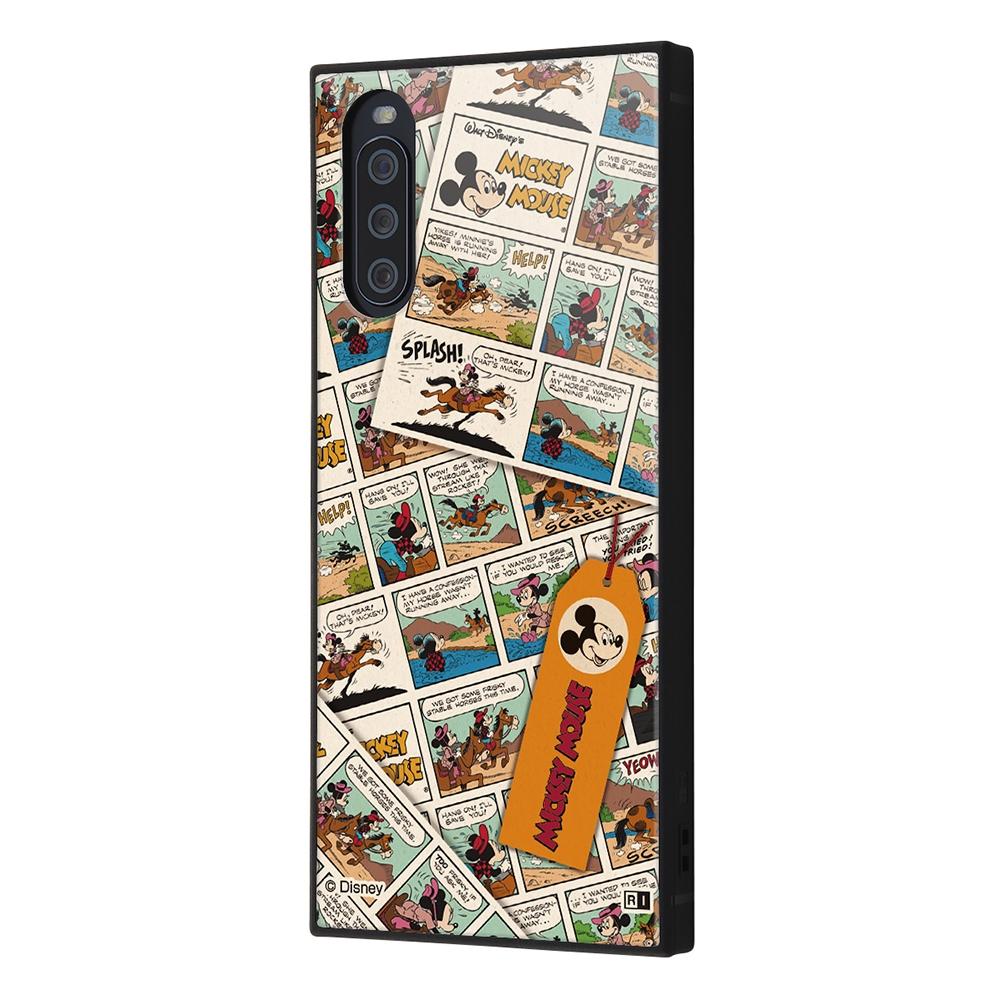 Xperia 10 III /『ディズニーキャラクター』/耐衝撃ハイブリッドケース KAKU/『ミッキーマウス/comic』【受注生産】
