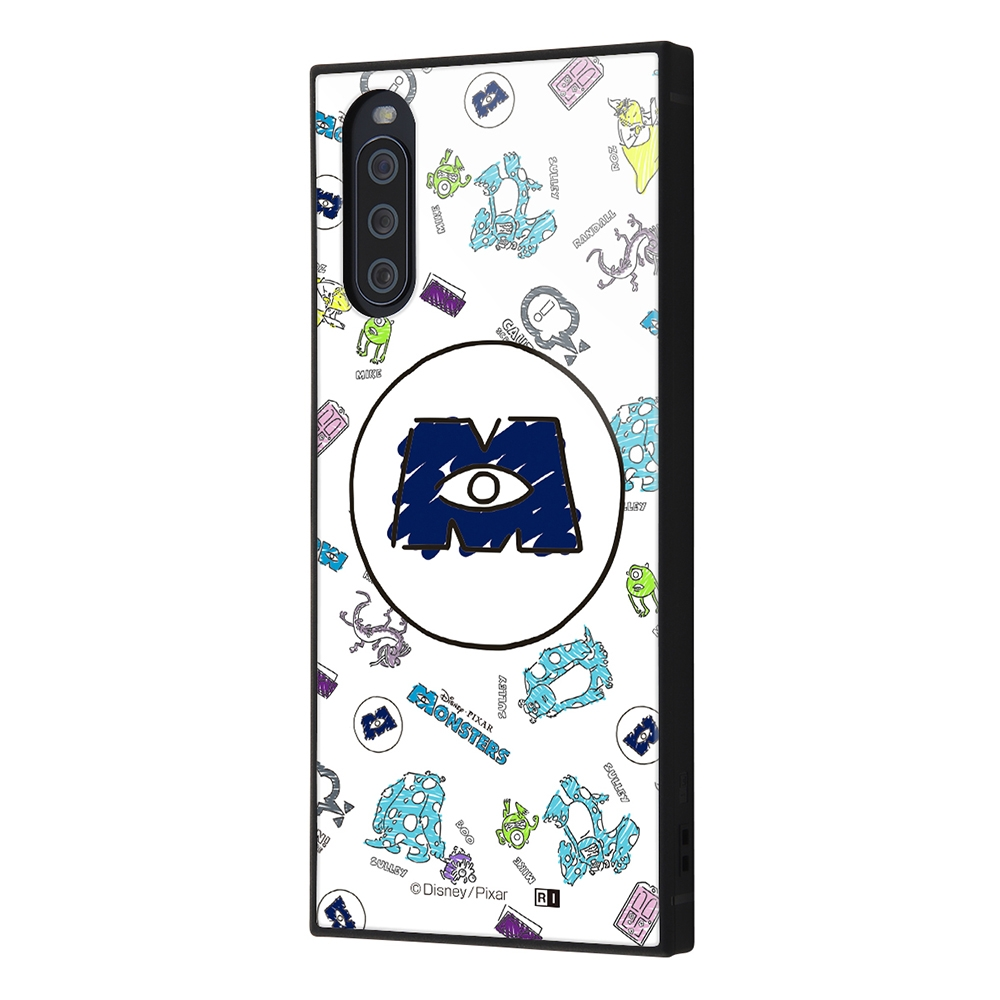 Xperia 10 III /『ディズニー・ピクサーキャラクター』/耐衝撃ハイブリッドケース KAKU/『モンスターズ・インク/総柄_01』【受注生産】