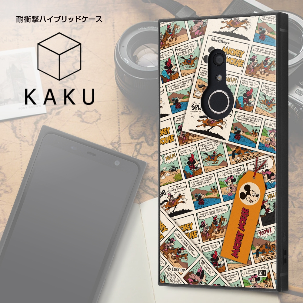 arrows Be4 Plus/『ディズニーキャラクター』/耐衝撃ハイブリッドケース KAKU/『ドナルドダック/comic』【受注生産】