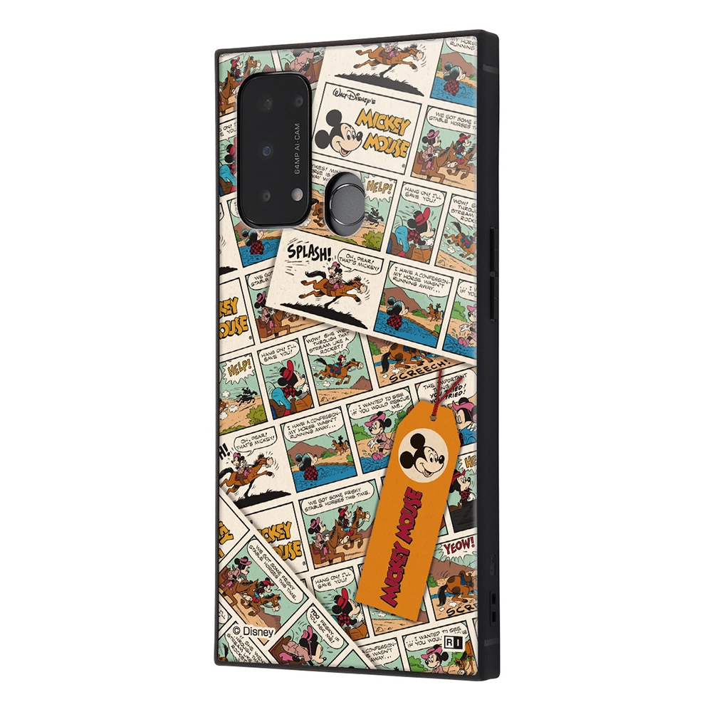 OPPO Reno5 A/『ディズニーキャラクター』/耐衝撃ハイブリッドケース KAKU/『ミッキーマウス/comic』【受注生産】