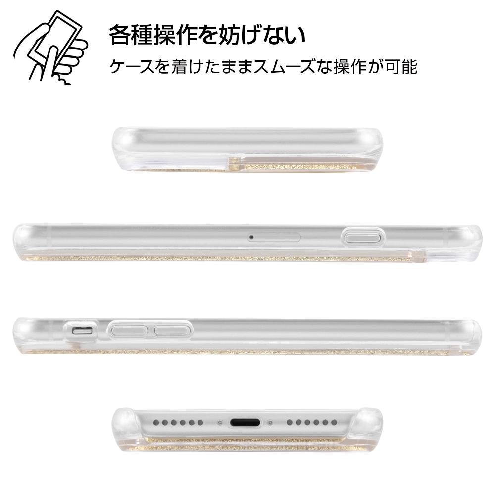iPhone SE(第2世代) / 8 / 7 / 6s / 6 / 『ディズニーキャラクター』/ラメ グリッターケース/フラワー