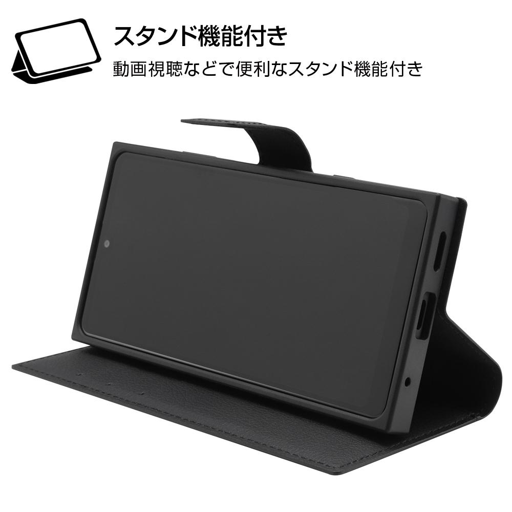 Xperia Ace II 『ディズニーキャラクター』/耐衝撃 手帳型レザーケース/ミニーマウス
