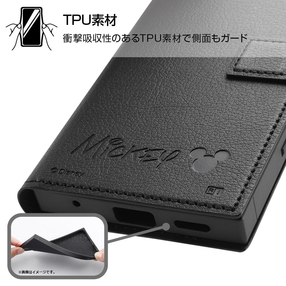Xperia Ace II 『ディズニーキャラクター』/耐衝撃 手帳型レザーケース/ドナルドダック