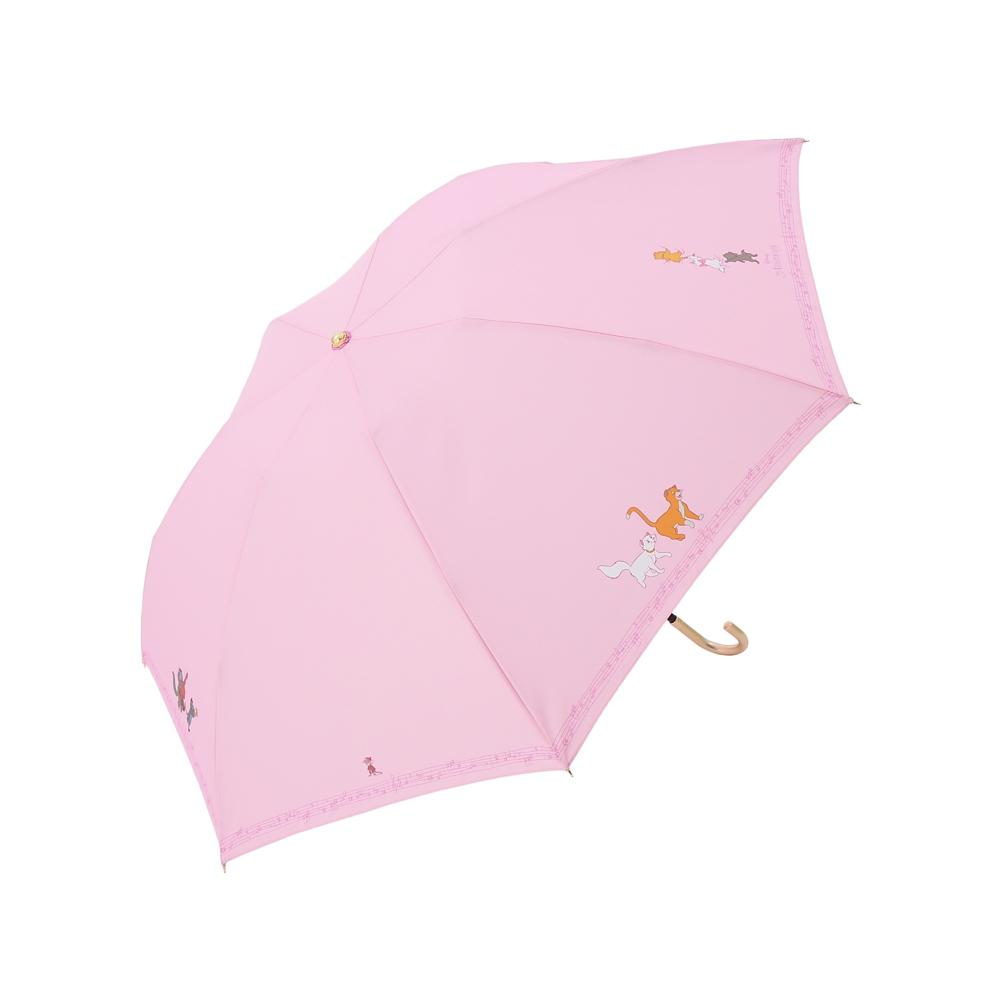 【Plus Anq(プラスアンク)】『おしゃれキャット』デザイン 折りたたみ傘 婦人用【数量限定】