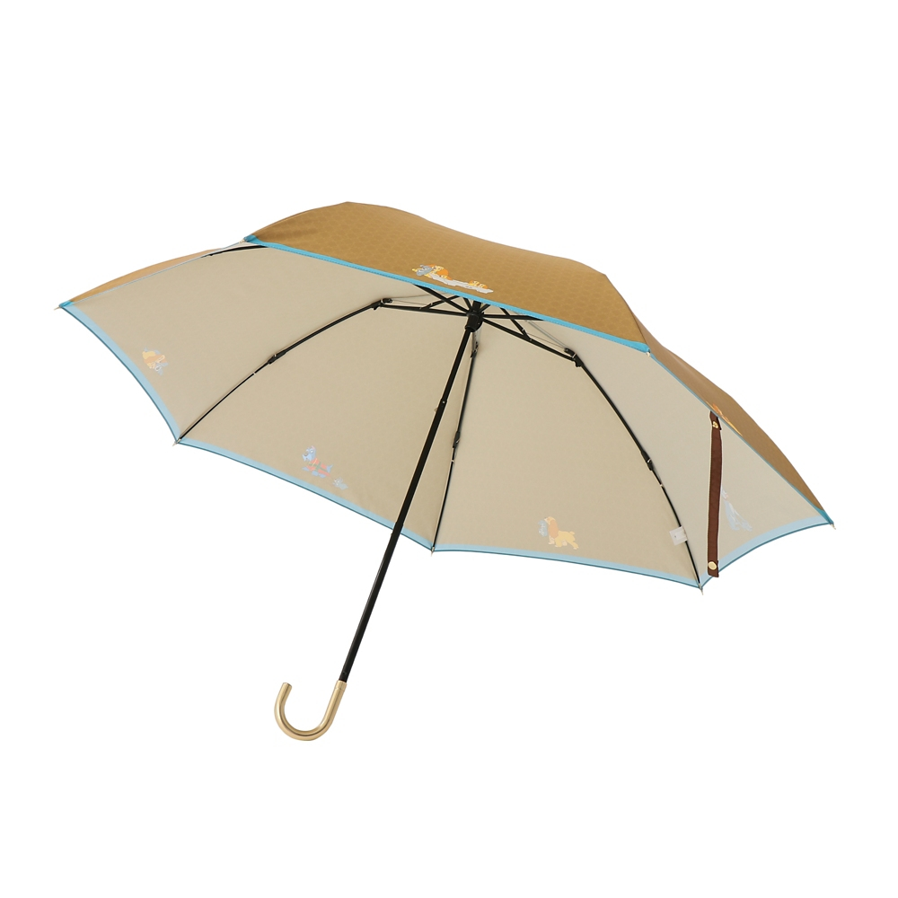 【Plus Anq(プラスアンク)】『わんわん物語』デザイン 折りたたみ傘 婦人用【数量限定】