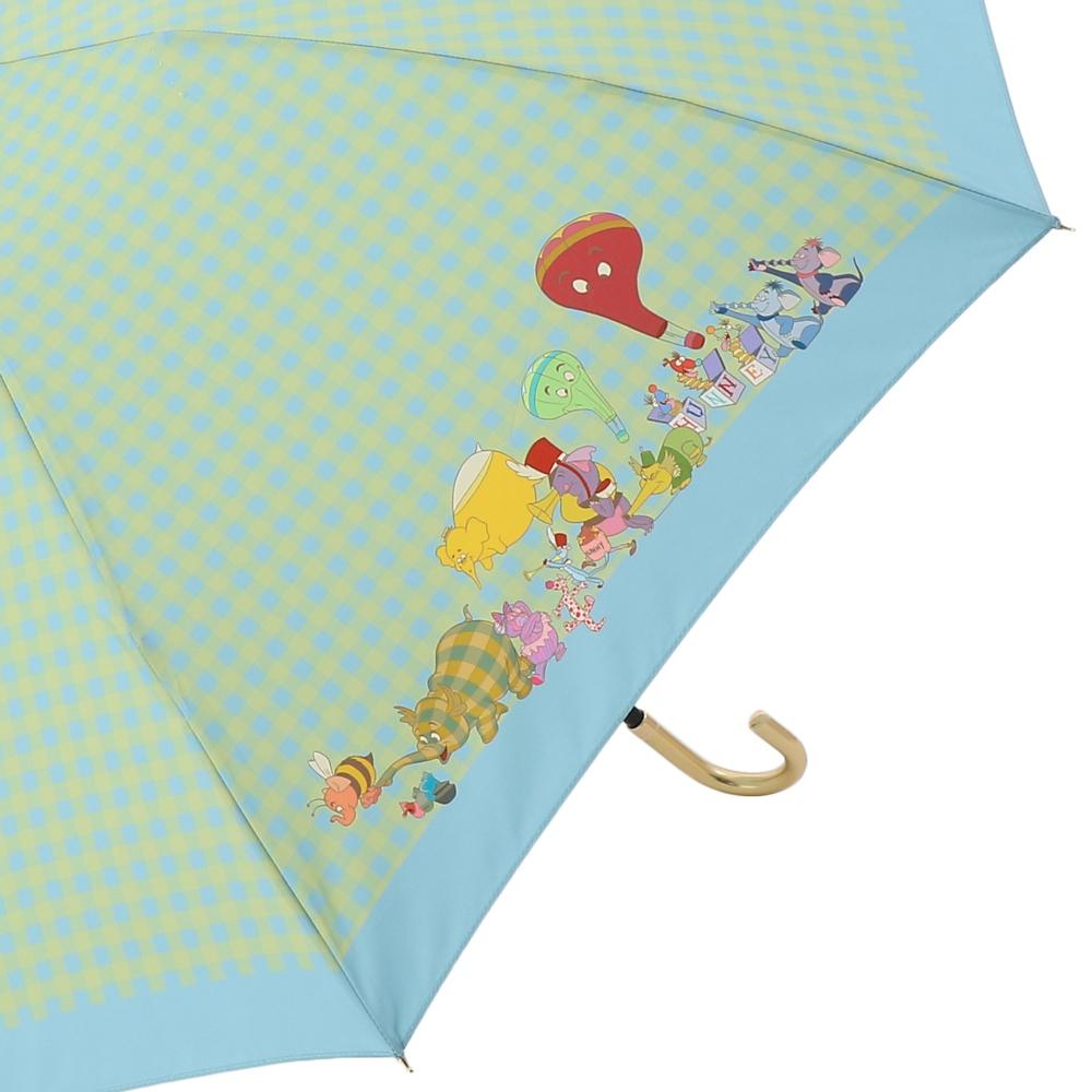 【Plus Anq(プラスアンク)】『くまのプーさん』デザイン 折りたたみ傘 婦人用【数量限定】