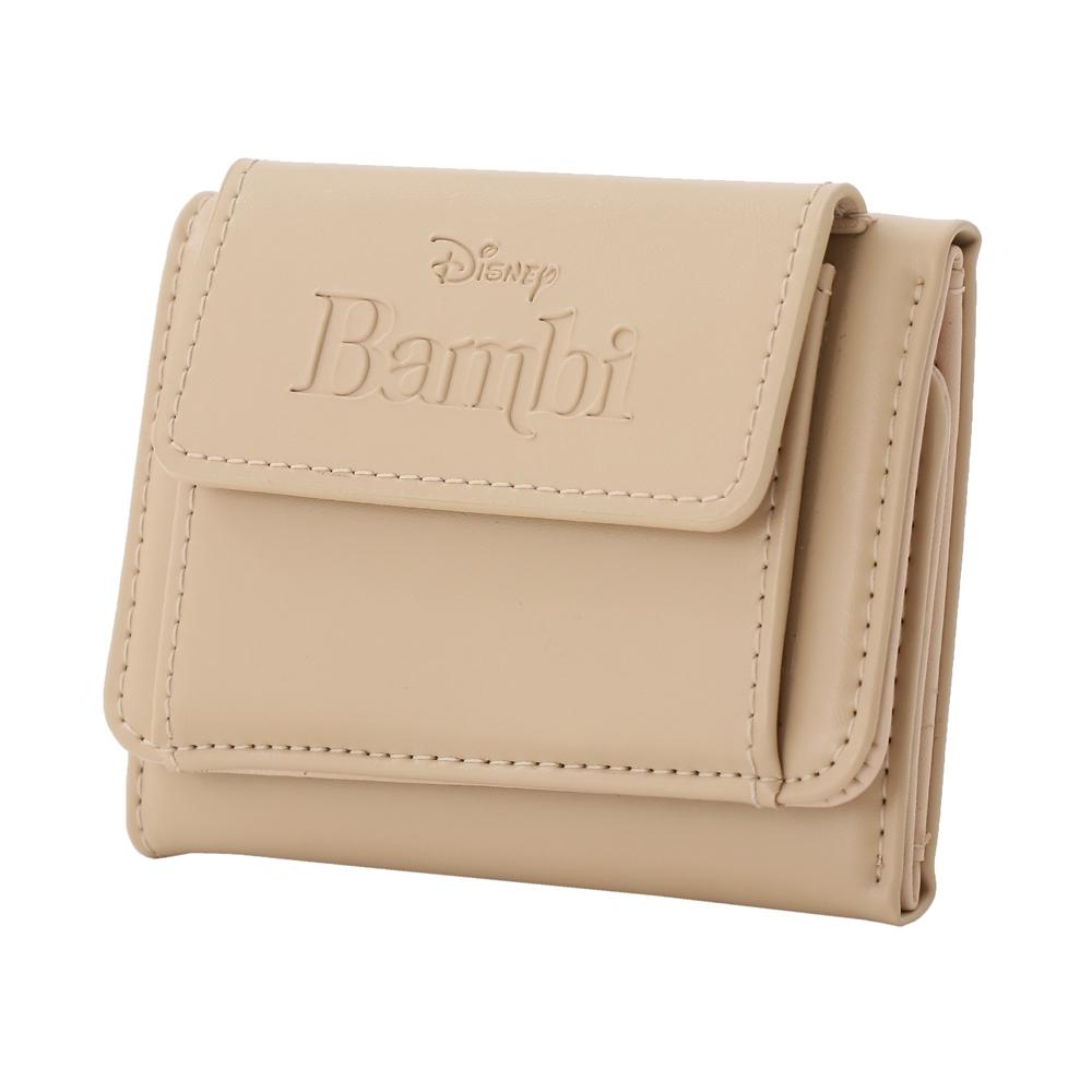 【Plus Anq(プラスアンク)】『バンビ』デザイン 三つ折り財布 ウォレット 婦人用【数量限定】