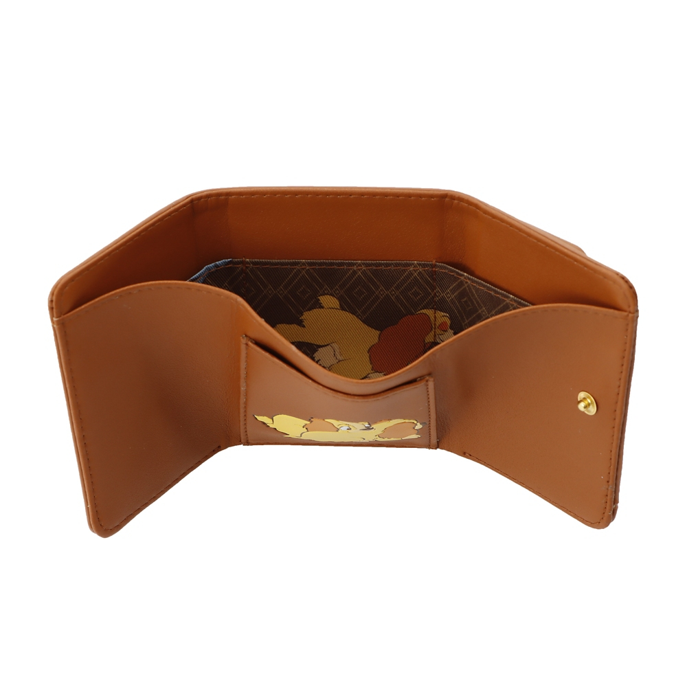 【Plus Anq(プラスアンク)】『わんわん物語』デザイン 三つ折り財布 ウォレット 婦人用【数量限定】