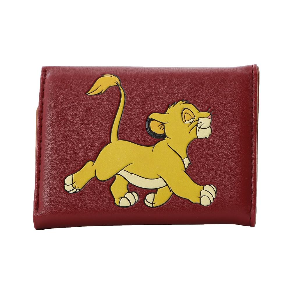 【Plus Anq(プラスアンク)】『ライオン・キング』デザイン 三つ折り財布 ウォレット 婦人用【数量限定】