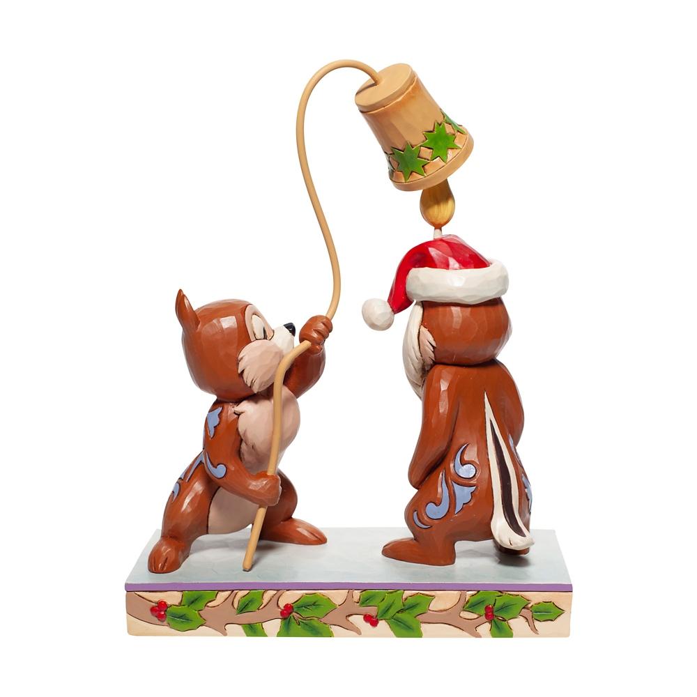 【enesco】チップ&デール フィギュア クリスマス DISNEY TRADITION