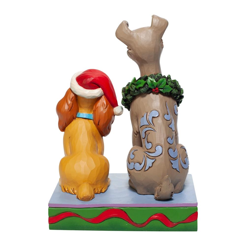 【enesco】レディ&トランプ フィギュア クリスマス DISNEY TRADITION