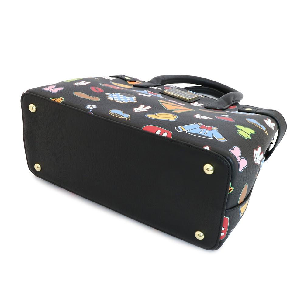 【Loungefly】ミッキー&フレンズ ハンドバッグ ようふく パターン