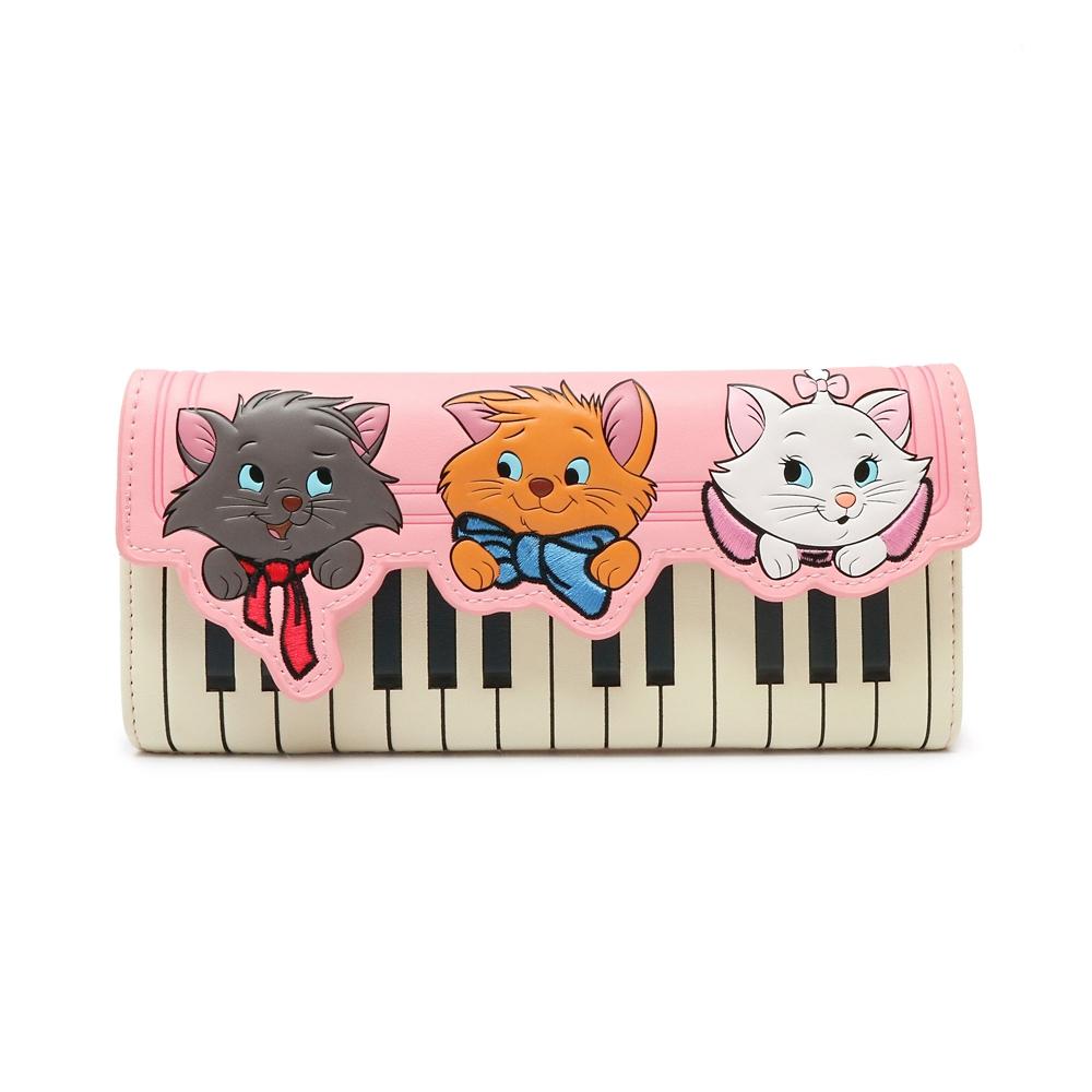 【送料無料】【Loungefly】マリー、ベルリオーズ、トゥルーズ 財布・ウォレット ピアノ おしゃれキャット