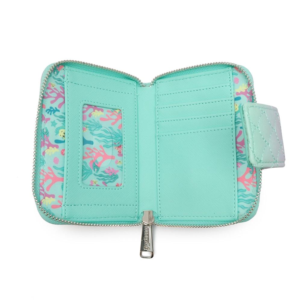 【Loungefly】 リトル・マーメイド 財布・ウォレット 二つ折り グラデーション