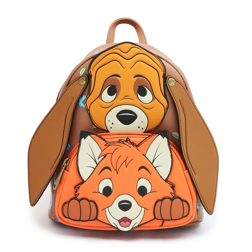 【Loungefly】トッド&コッパー ミニリュック きつねと猟犬 フェイス
