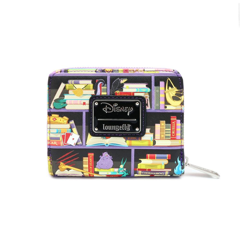【Loungefly】ディズニーヴィランズ カードケース ブックシェルフ