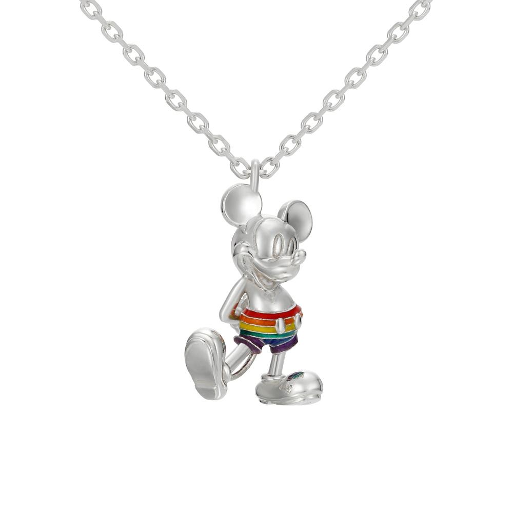 【ユートレジャー】ミッキーマウス レインボースタイル ネックレスシルバー(NDYR-102)