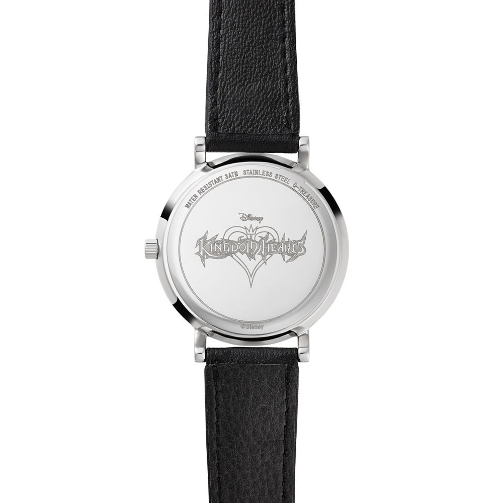 【キングダム ハーツ】KINGDOM HEARTS/Watch -MONOGRAM- レザーベルト×ブラック TDKH-405-LE-BL