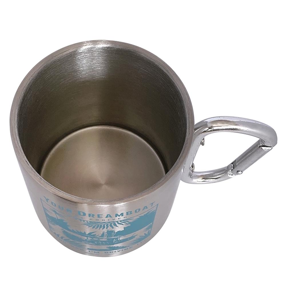 ジャングル・クルーズ カラビナ付きステンレスマグカップ