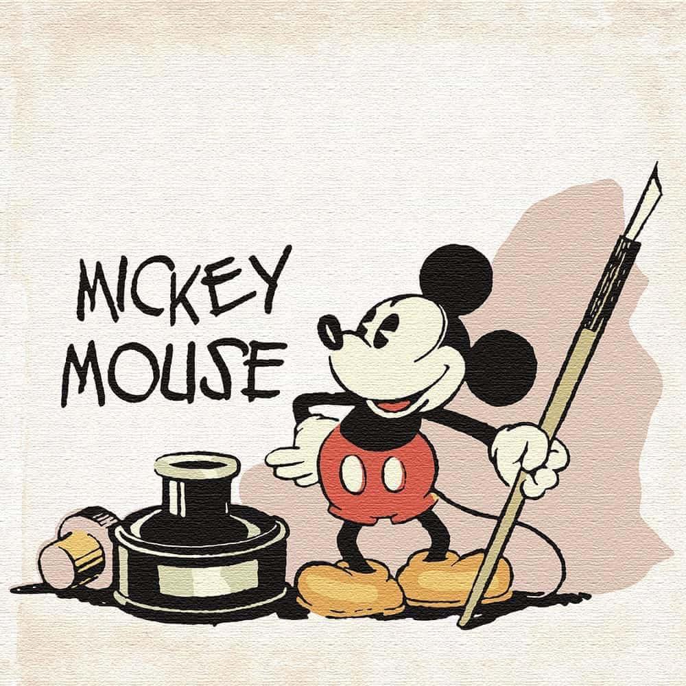 【ファブリックパネル】ミッキーマウス ペン 【dsny-1705-02】
