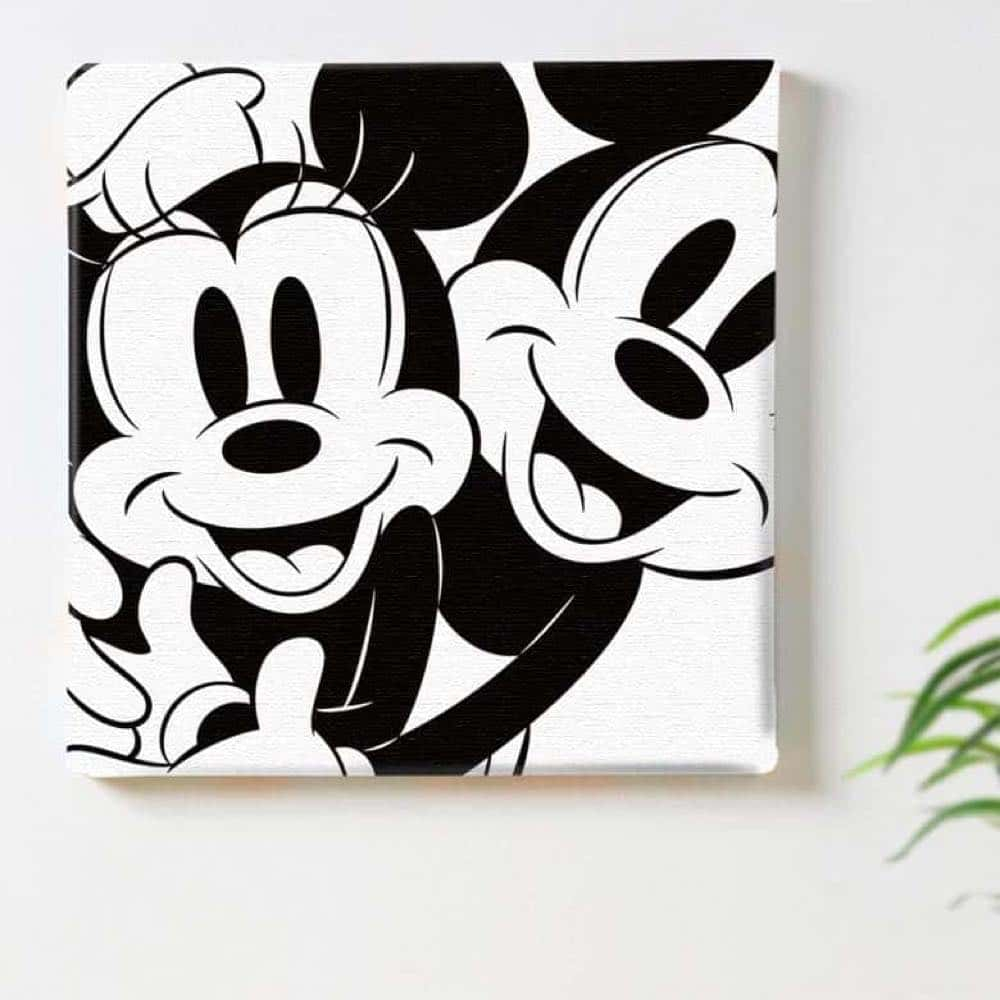 【ファブリックパネル】ミッキーマウス&ミニーマウス スマイル 【dsny-1710-01】