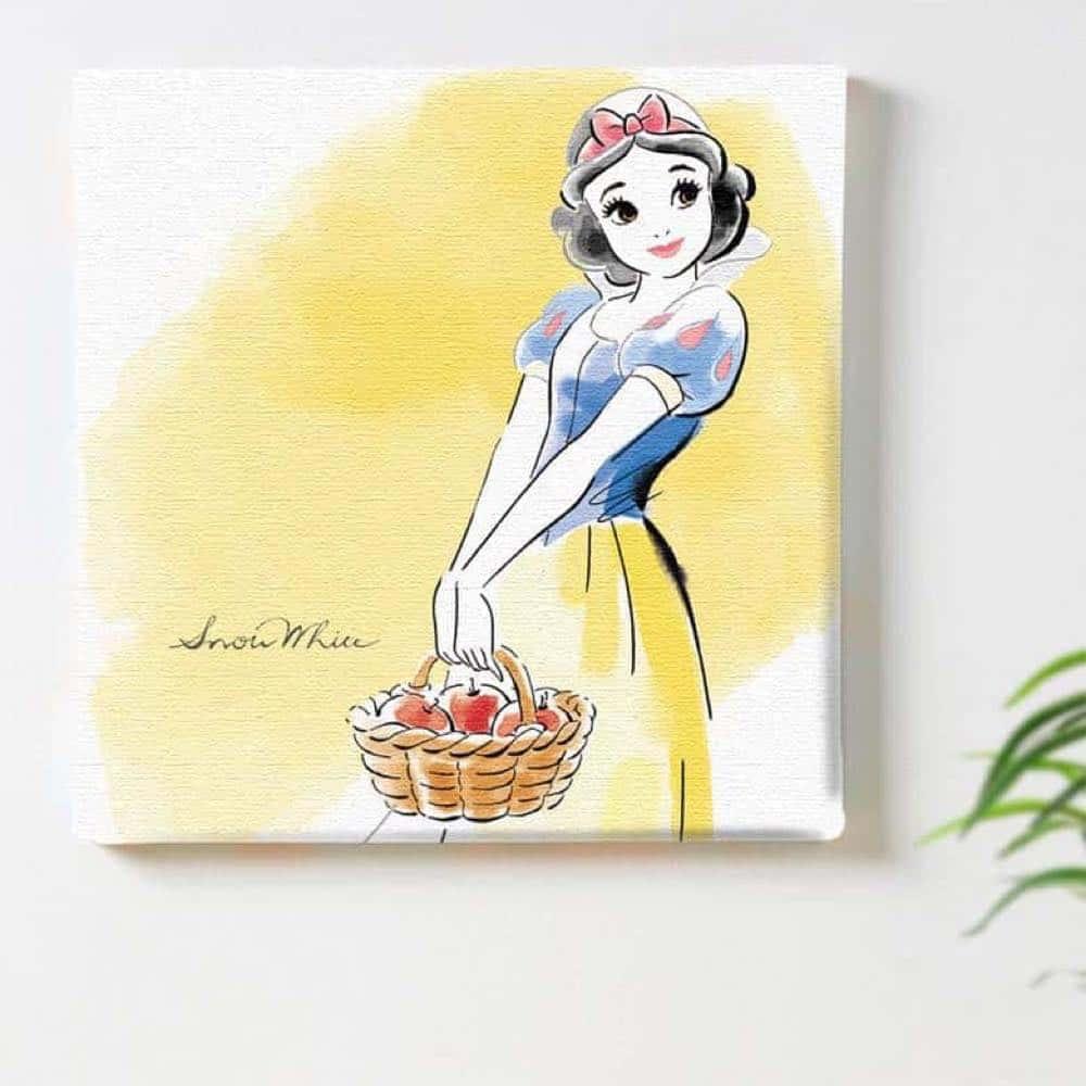【ファブリックパネル】白雪姫 パステル