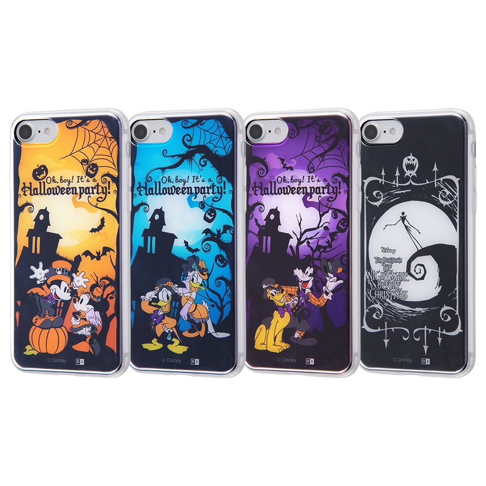 iPhone SE(第2世代)/8/7/ ディズニーキャラクター/TPUケース+背面パネル/『ディズニーハロウィン』_4【受注生産】