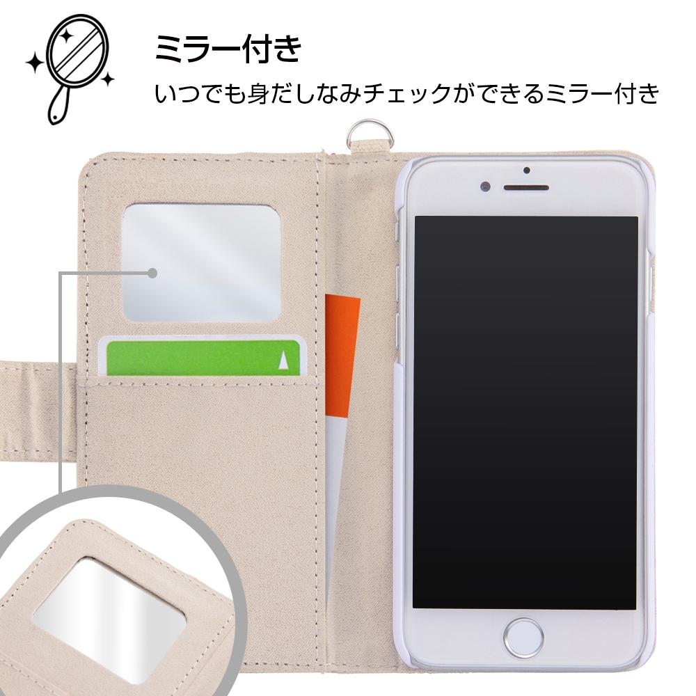 iPhone SE(第2世代)/8/7/6s/6ディズニーキャラクター/サガラ刺繍 手帳型ケース/ミニー
