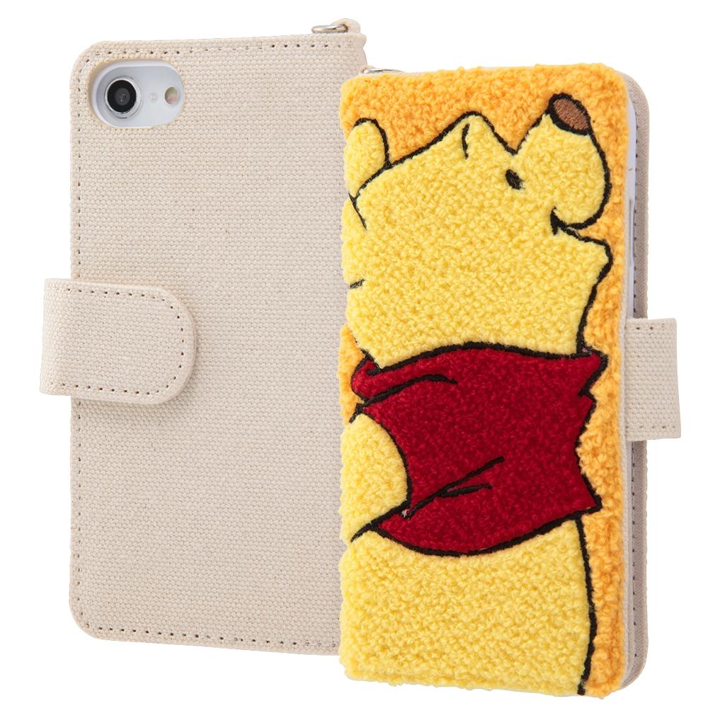 iPhone SE(第2世代)/8/7/6s/6ディズニーキャラクター/サガラ刺繍 手帳型ケース/プー
