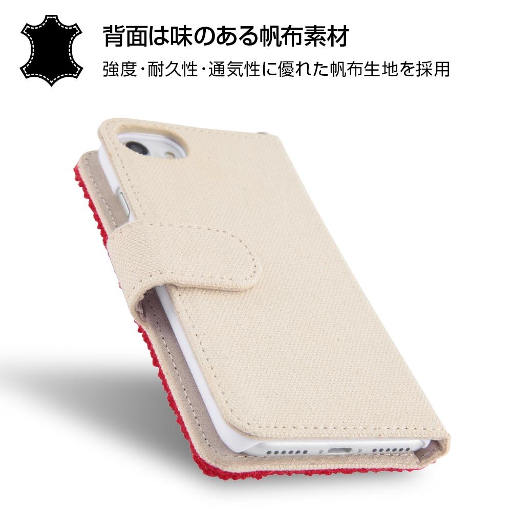 iPhone SE(第2世代)/8/7/6s/6ディズニーキャラクター/サガラ刺繍 手帳型ケース/チップ&デール