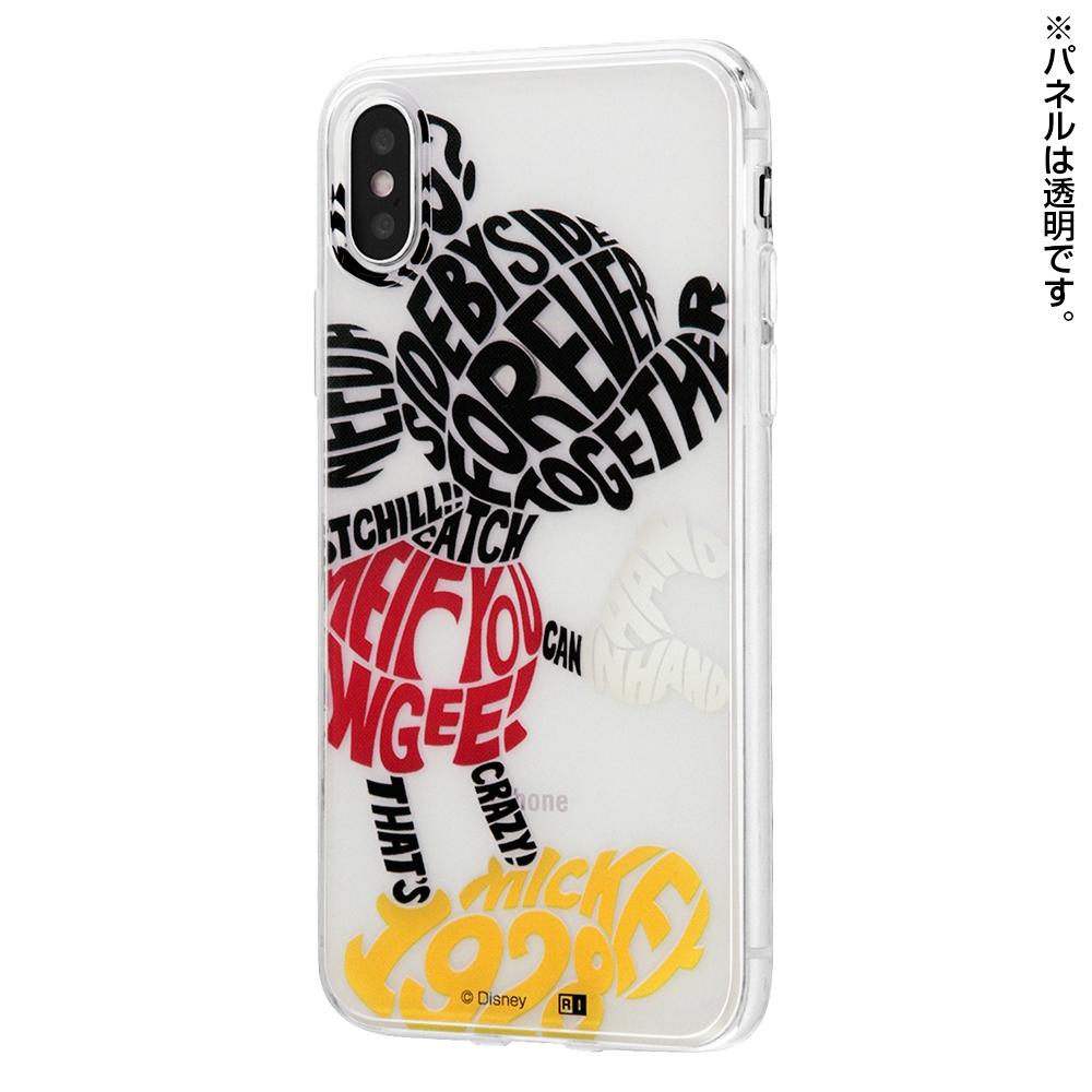 iPhone XS / X /『ディズニーキャラクター』/TPUケース+背面パネル/『hand in hand』_1【受注生産】