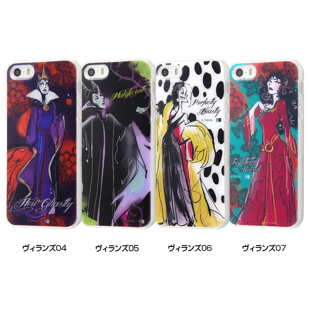 iPhone SE / 5s / 5 /『ディズニーキャラクター』/TPUケース+背面パネル/『ヴィランズ』_07【受注生産】