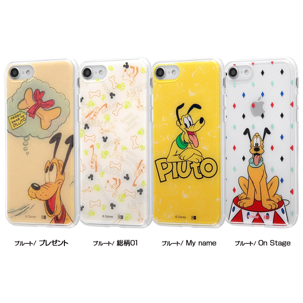 iPhone SE(第2世代)/8/7/『ディズニーキャラクター』/TPUケース+背面パネル/『プルート/総柄』_01【受注生産】