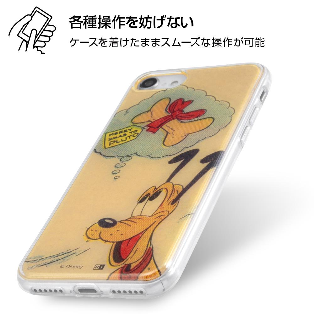 iPhone SE(第2世代)/8/7/『ディズニーキャラクター』/TPUケース+背面パネル/『プルート/On Stage』【受注生産】