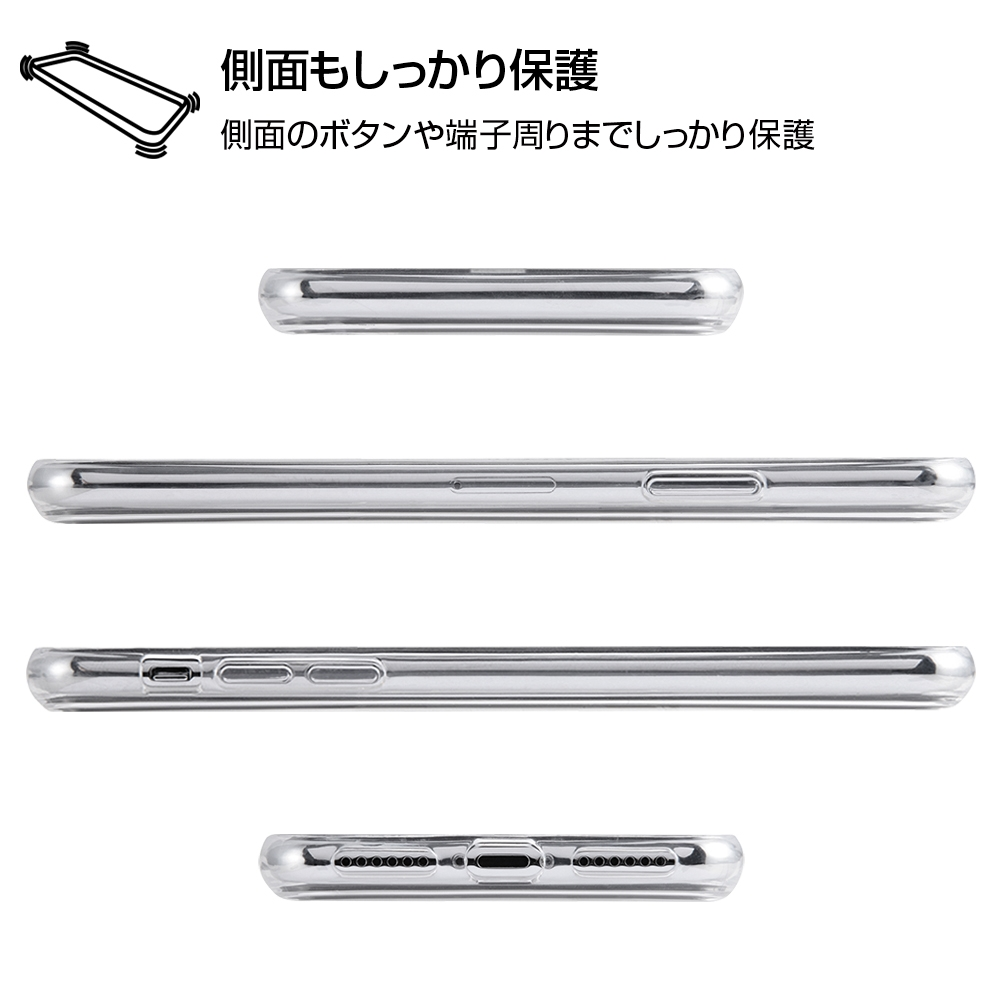 iPhone XS / X /『ディズニーキャラクター』/TPUケース+背面パネル/『ダンボ/総柄』_01【受注生産】