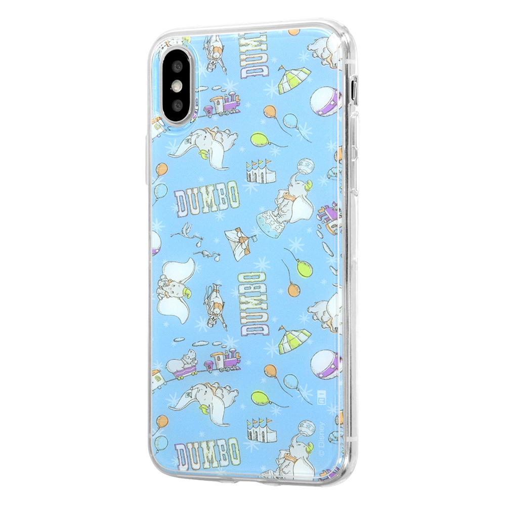 iPhone XS / X /『ディズニーキャラクター』/TPUケース+背面パネル/『ダンボ/総柄』_02【受注生産】