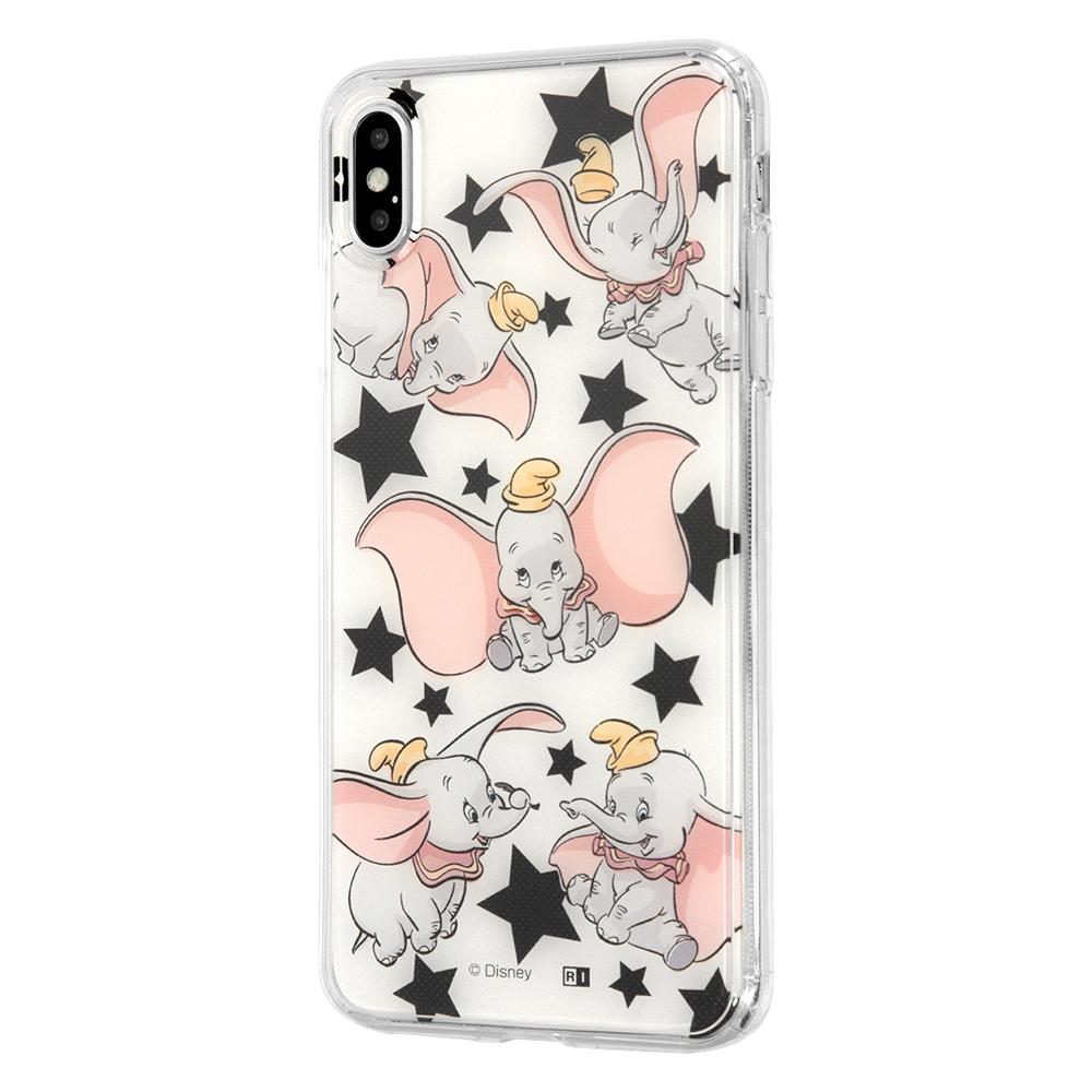 iPhone XS MAX /『ディズニーキャラクター』/TPUケース+背面パネル/『ダンボ/総柄』_01【受注生産】