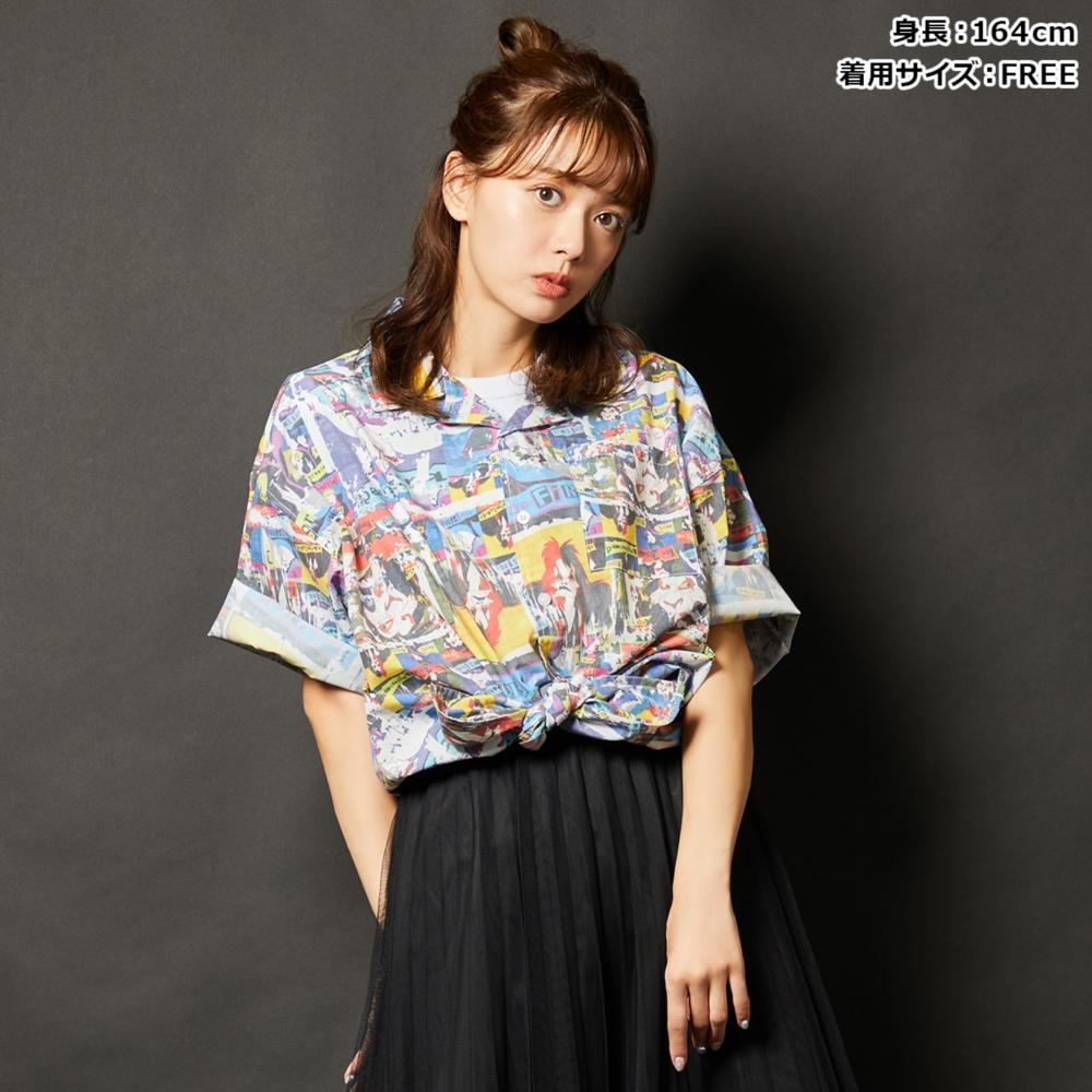 ディズニーヴィランズ/総柄衿付きシャツ(82comb)