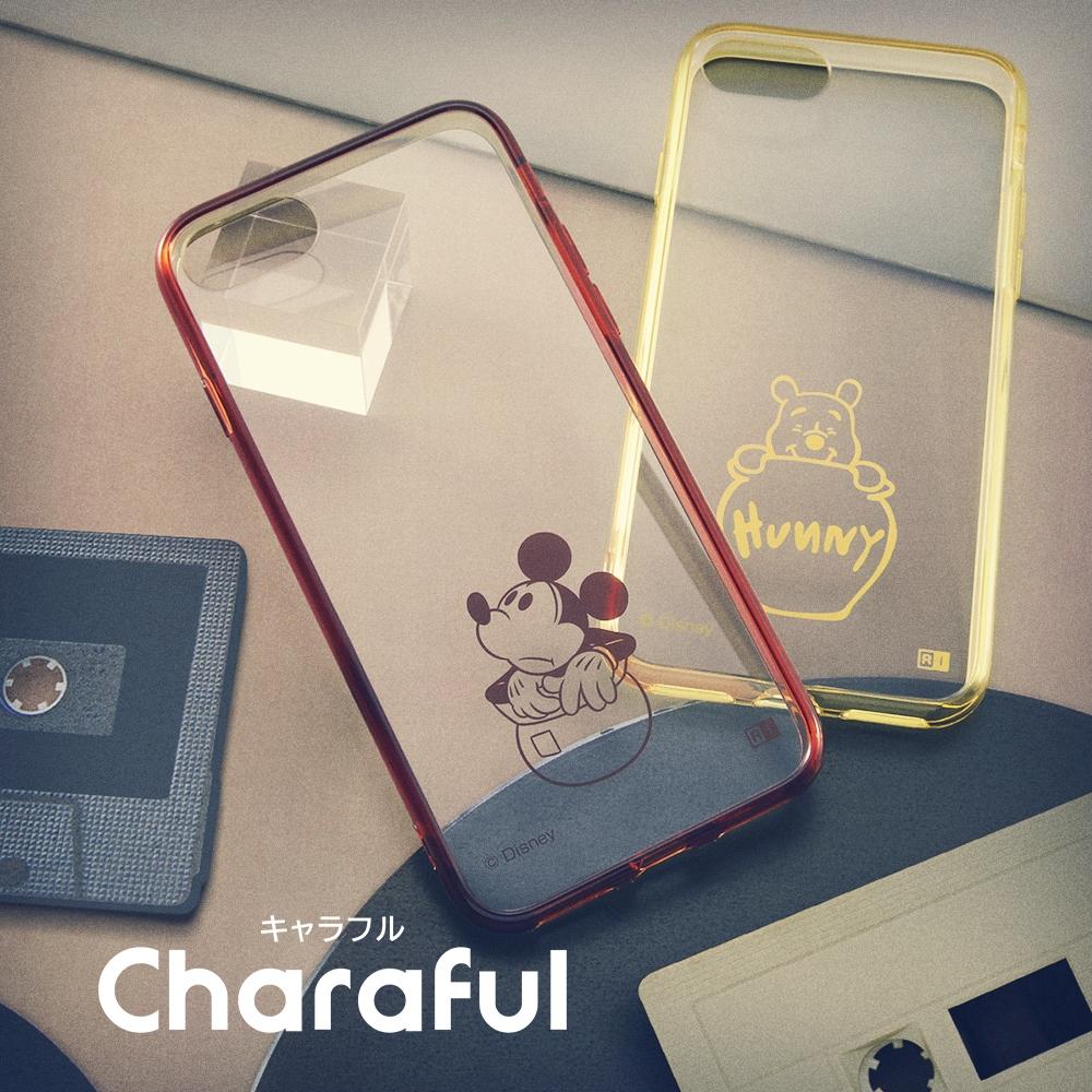 iPhone SE(第2世代)/8/7 『ディズニーキャラクター』/ハイブリッドケース Charaful/プー