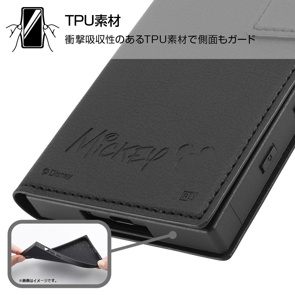 Xperia 5 II 『ディズニーキャラクター』/耐衝撃 手帳型レザーケース/『ミニーマウス』